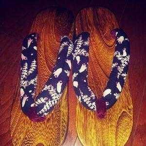 Shoes - Japanese Geta/wood sandals.